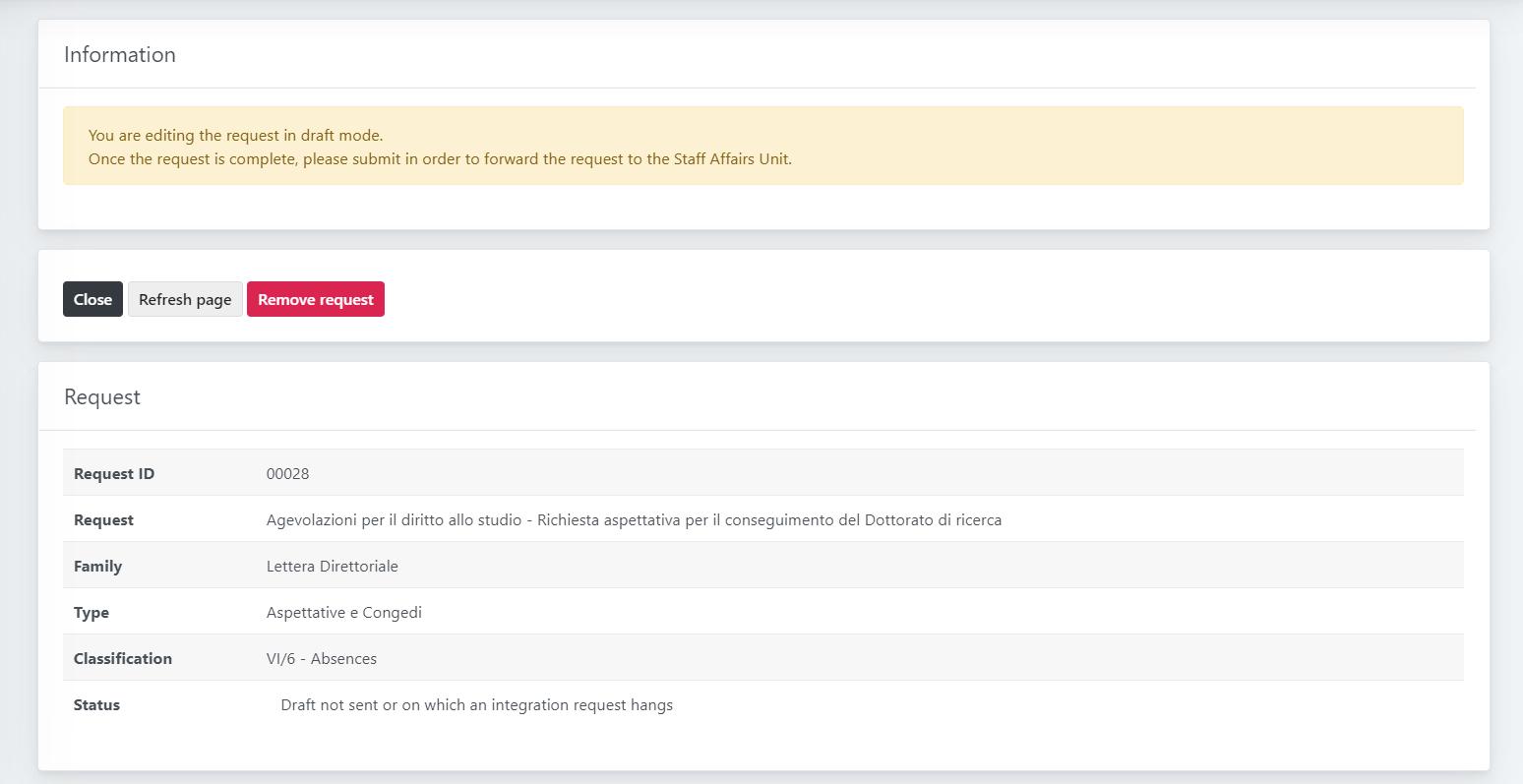 OpenStudio - HR Requests - Draft management